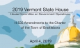 Vermont State House - H.535 Amendments to the Charter of the Town of Brattleboro 4/4/19