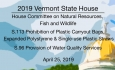 Vermont State House - S.113 Prohibition of Certain Plastic Items, S.96 Water Quality Services4/25/19