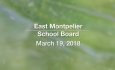 East Montpelier School Board - March 19, 2019