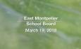 East Montpelier School Board - March 19, 2019