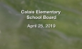 Calais Elementary School Board - April 25, 2019