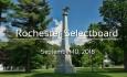 Rochester Selectboard - September 10, 2018