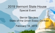 Vermont State House Special Event - Bernie Sanders State of the Union Essay 2/16/19