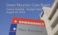 Green Mountain Care Board - Copley Hospital - Budget Hearing 8/20/18