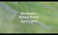 Montpelier School Board - April 4, 2018