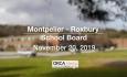 Montpelier - Roxbury School Board - November 20, 2019