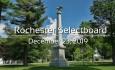 Rochester Selectboard - December 23, 2019