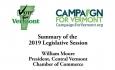 Vote for Vermont: Summery of the 2019 Legislative Session, William Moore