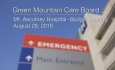 Green Mountain Care Board - Mt. Ascutney Hospital - Budget Hearing 8/28/19