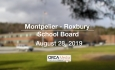 Montpelier - Roxbury School Board - August 28, 2019
