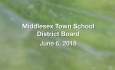 Middlesex Town School District Board - June 6, 2018
