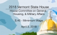 Vermont State House: S.40 - Minimum Wage 4/3/18