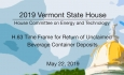 Vermont State House -H.63 Time Frame for Return of Unclaimed Beverage Container Deposits 5/22/19