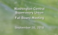 Washington Central Supervisory Union - Full Board Meeting 9/26/18