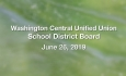 Washington Central Unified Union School District - June 26, 2019
