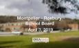 Montpelier - Roxbury School Board - April 3, 2019