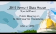 Vermont State House Special Event: Public Hearing on  S.169 Firearms Procedures