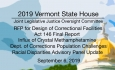 Vermont State House - Joint Legislative Justice Oversight Committee 9/6/19