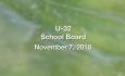U-32 School Board - November 7, 2018