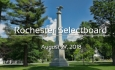 Rochester Selectboard - August 27, 2018