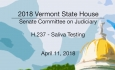 Vermont State House: H.237 - Saliva Testing 4/11/18