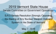 Vermont State House - Opposition to Basing Any Nuclear Weapon Delivery System in VT 57/19