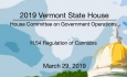 Vermont State House - H.54 Regulation of Cannabis 3/29/19