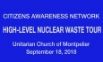 Citizens Awareness Network - High-Level Nuclear Waste Tour 9/18/18