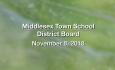 Middlesex Town School District Board - November 8, 2018