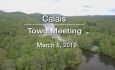 Calais Selectboard - Town Meeting - March 5, 2019