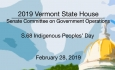 Vermont State House - S.68 Indigenous Peoples' Day 2/28/19