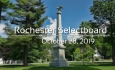 Rochester Selectboard - October 28, 2019