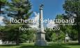 Rochester Selectboard - November 11, 2019