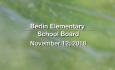 Berlin Elementary School Board - November 12, 2018