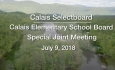 Calais Selectboard - Special Joint Meeting with Calais Elementary School Board 7/9/2018
