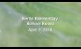 Berlin Elementary School Board - April 9, 2018
