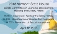 Vermont State House: H294,  H333, H707 4/12/18