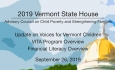 Vermont State House - Advisory Council on Child Poverty and Strengthening Families 9/26/19