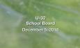 U-32 School Board- December 5, 2018