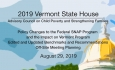 Vermont State House - Policy Changes to SNAP, Updated Benchmarks and Recommendations 8/29/19
