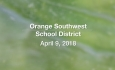 Orange Southwest Supervisory Union District - April 9, 2018