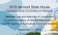 Vermont State House - Legislative Study Committee on Wetlands 9/17/19
