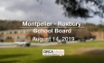 Montpelier - Roxbury School Board - August 14, 2019