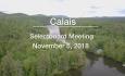 Calais Selectboard - November 5, 2018