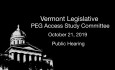 PEG Access Study Committee - Public Hearing 10/21/19