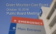 Green Mountain Care Board - Public Board Meeting - 10/10/18