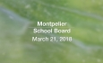 Montpelier School Board - March 21, 2018