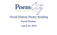 Poem City - David Hinton 2018