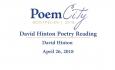 Poem City - David Hinton 2018