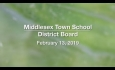 Middlesex Town School District Board - February 13, 2019